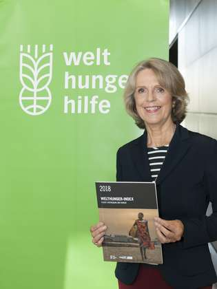 Bärbel Dieckmann, President of Welthungerhilfe, presenting the 2018 Global Hunger Index