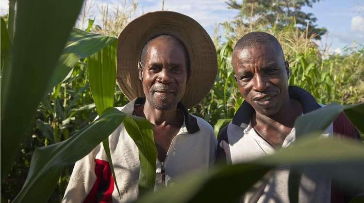 The farmers George Moyo (left) und Dumisani Mpofu (right)