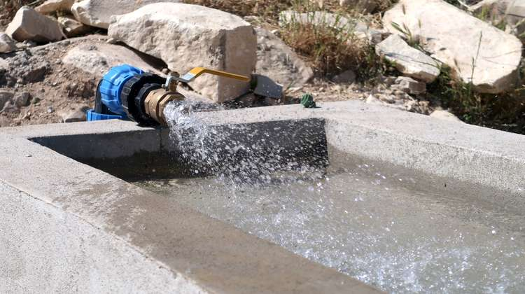 Watering place in Sinjar, Nineveh Governorate, Iraq