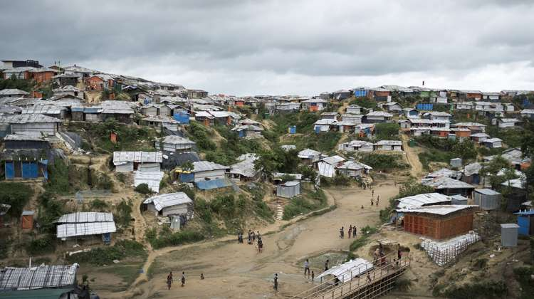 Camp Hakimpara for Rohingya refugees in Bangladesh, August 2018.
