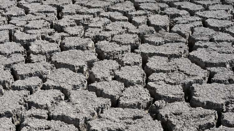 Dried-up soil in Ethiopia.