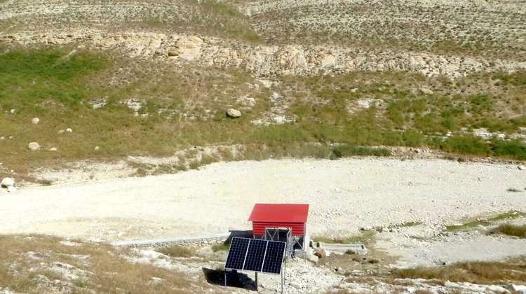 Solar panel used to pump water in Sinjar, Nineveh Governorate, Iraq