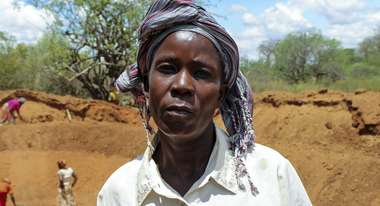 Portrait of a woman in Kenya