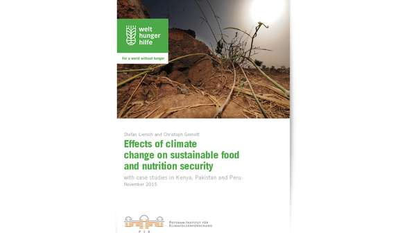 Publication Cover: Effects of Climate Change on Sustainable Food and Nutrition Security