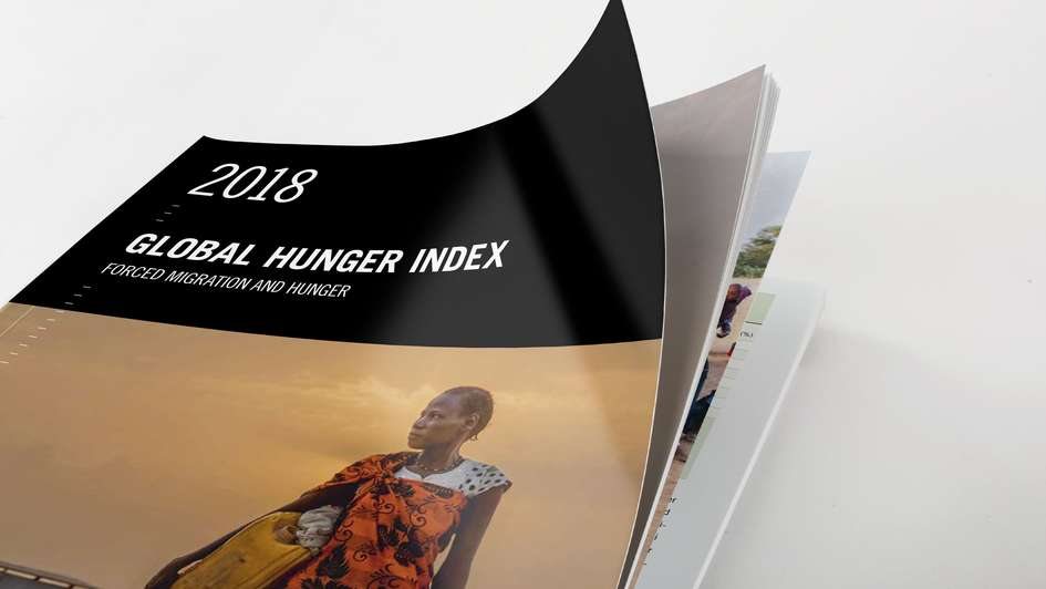 Cover of the Global Hunger Index 2018